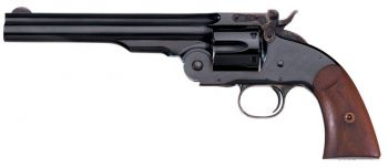 Taylors And Company 0850 Second Model Schofield 45 Colt Lc 6 Round 7 Blued Walnut Grip