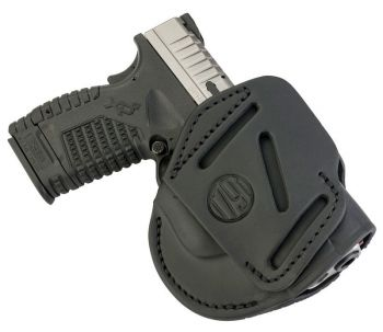 1791 Gunleather 3wh4sbla 3 Way Stealth Black Leather Owb Sprgfld Xd Xds/walther G2c Pps Ambidextrous Hand