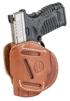 1791 Gunleather 3wh4cbra 3 Way Brown Leather Owb Sprgfld Xd Xds/walther G2c Pps Ambidextrous Hand