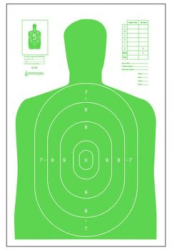Action Target Inc B27elgr100 B27e High Visibility Paper 23 X 35 Silhouette Fluorescent Green 100