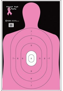 Action Target Inc B27enpt100 B27e Shoot For The Cure Paper 23 X 35 Silhouette Black/pink/white 100