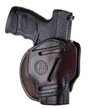 1791 Gunleather 3wh3sbra 3 Way Signature Brown Leather Owb Glock 26ruger Lc9sw Shield Ambidextrous Hand