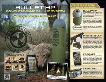 Convergent Hp4000kit Bullet Hp Game Calling System Electronic Call Predator Polycarbonate Green Rechargeable
