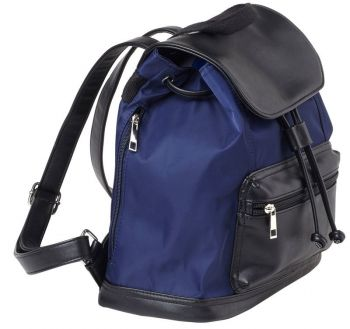 Bulldog Bdp065 Backpack Style Purse W/holster Leather Navy/black