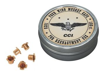 Cci 301 Four Wing Musket Caps Black Powder Brass 1000
