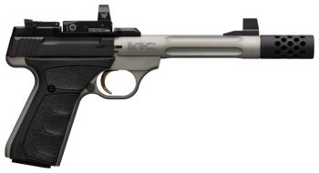 Browning Pistol Buck Mark Lite Competition 22Lr Gray Ufx Fluted Sr Mb With Red Dot